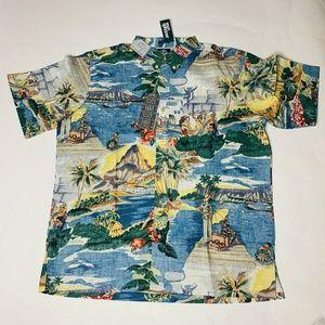 Reyn Spooner Mens Hawaian Shirt Size XL Trans Pac